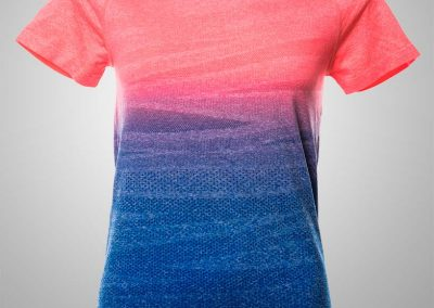 Womens Tee hombre pinkblue