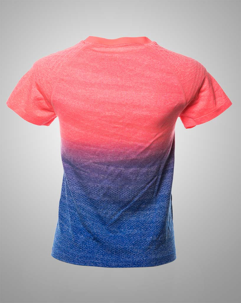 salmon-blue ombre tee THRONE
