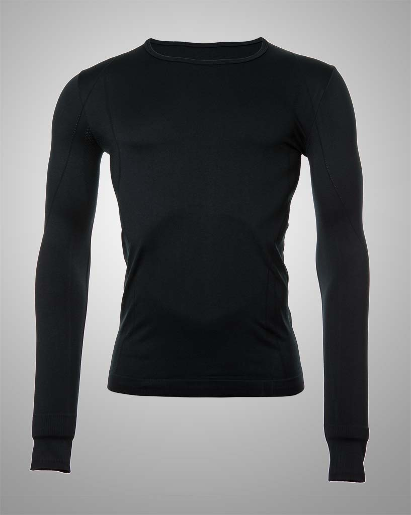mens black seamless long sleeved by THRONE