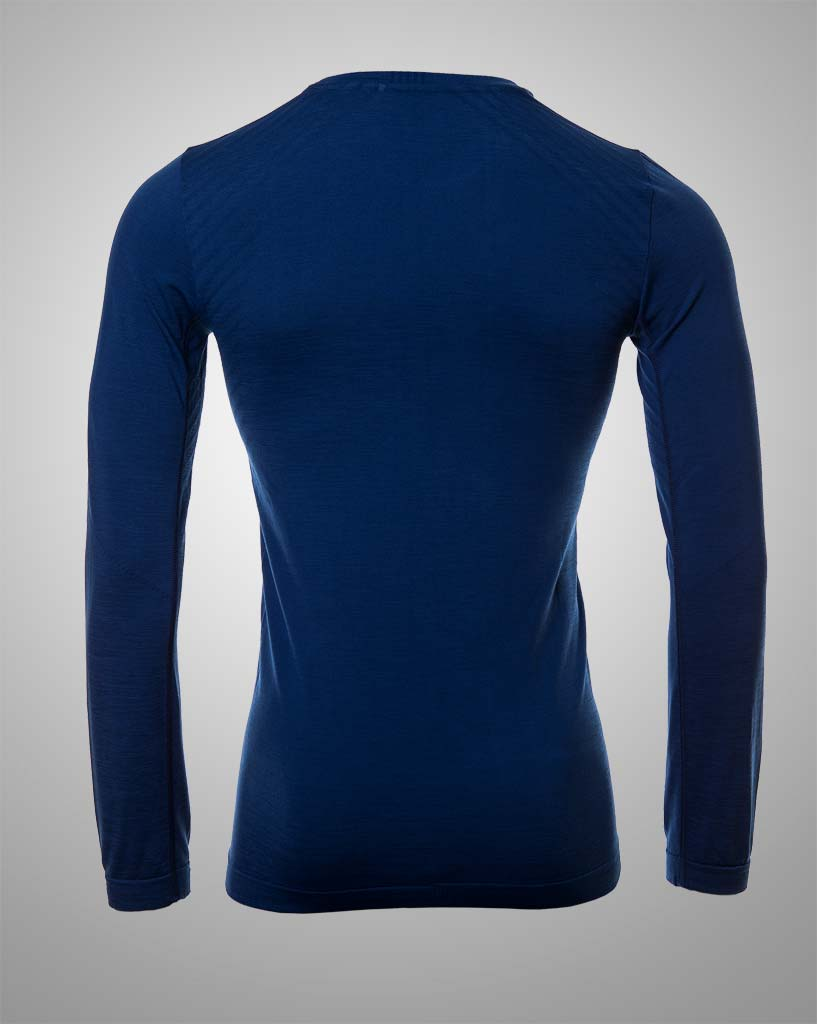 mens darkblue seamless long sleeved by THRONE
