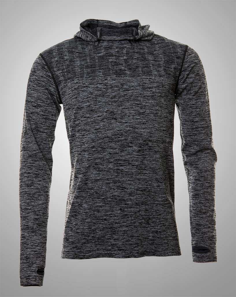 mens grey long sleeved hoodie by THRONE
